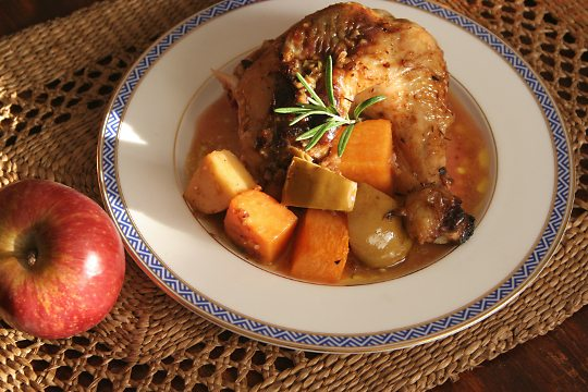 Sweet Pumpkin and Apple Chicken