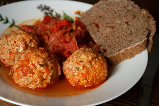 Turkey Meat Balls in Tomato Sauce