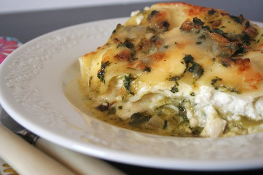 spinach and lasagna