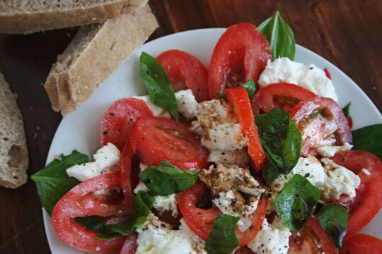 Mozzarella and Tomatoes Salad