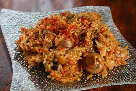 Pilaf with Chicken and Mushrooms