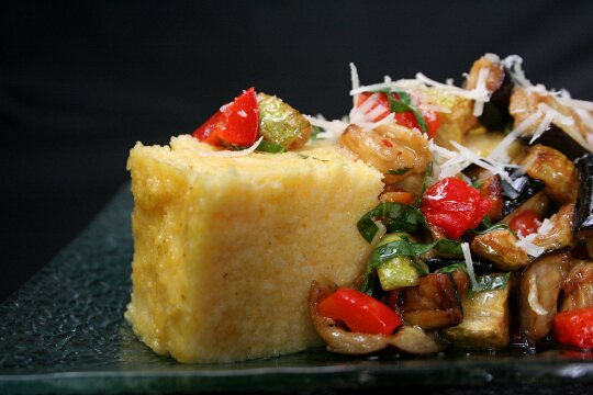 Polenta with Warm Salad