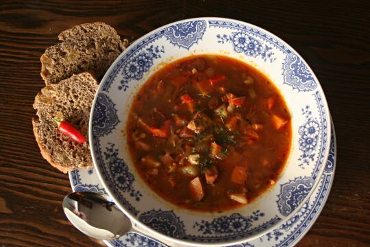 Sausage and Barley Soup